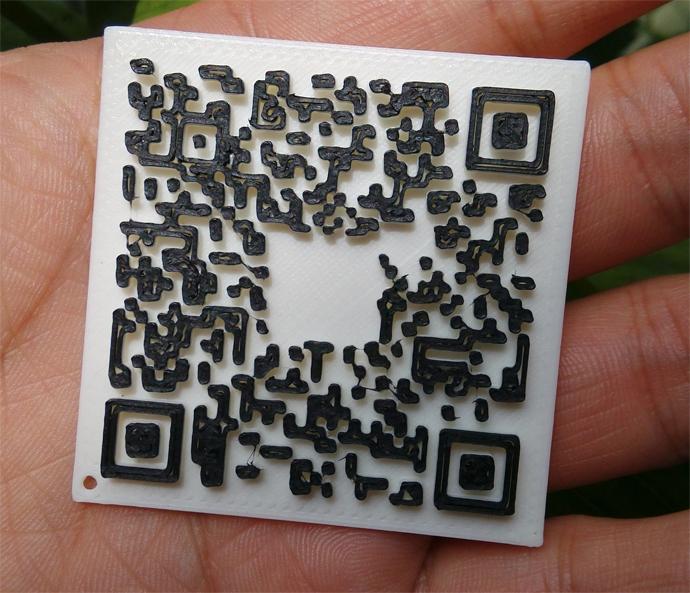 3d打印二维码名片,将二维码装入口袋