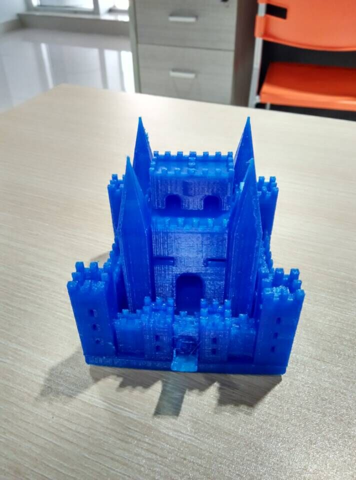 PLA材质,打印机试打中世纪欧洲城堡 3D打印图片