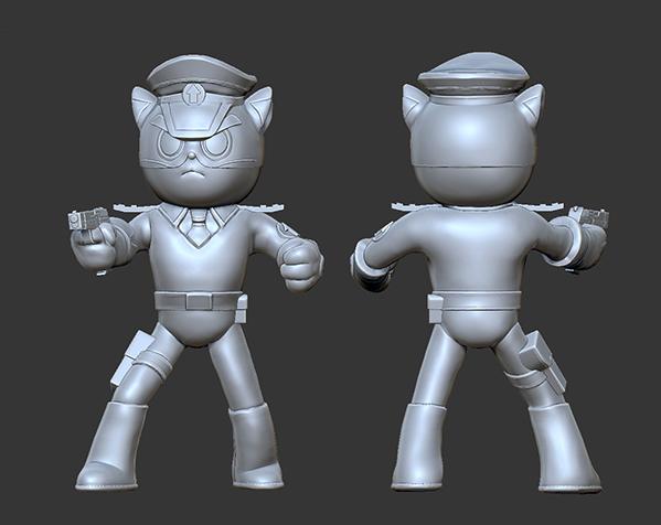 黑猫警长之翡翠之星——黑猫警长 3D打印模型渲染图