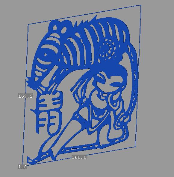 立体剪纸_十二生肖_鼠 3D打印模型渲染图