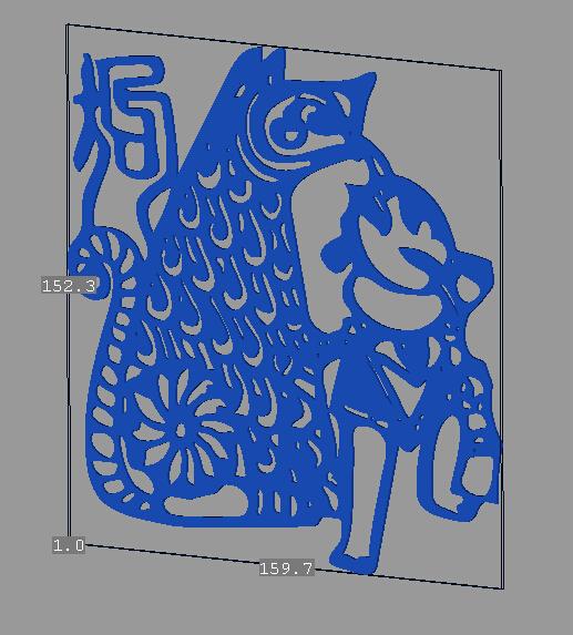 立体剪纸_十二生肖_狗 3D打印模型渲染图