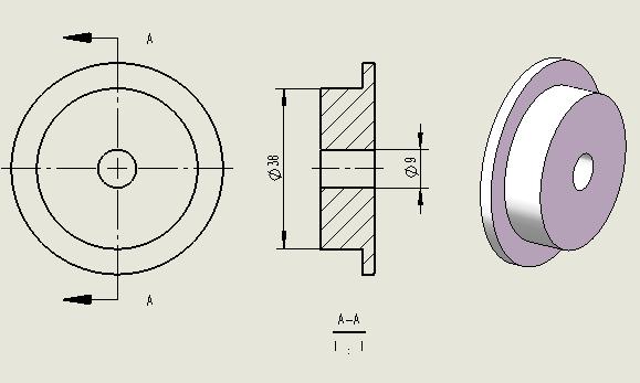 3D打印料盘滚轴roller