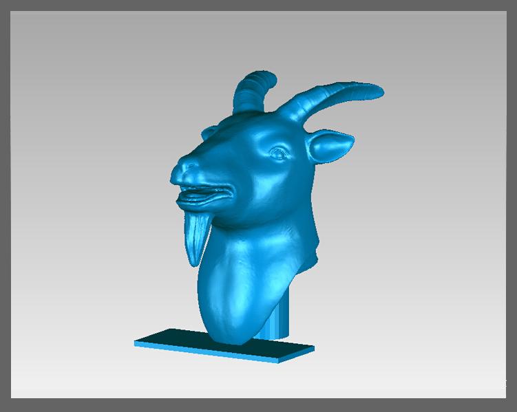 十二兽首-羊 3D打印模型渲染图