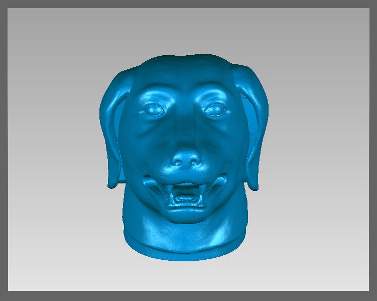 十二兽首-狗 3D打印模型渲染图