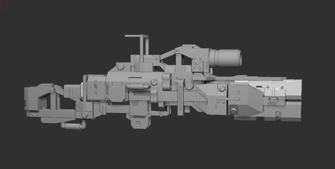 枪 3D打印模型渲染图