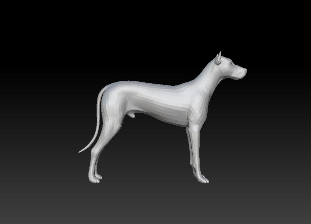 杜宾犬 3D打印模型渲染图