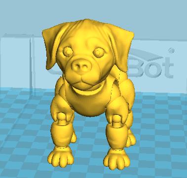 拼接狗狗(可活动)14件拆件 3D打印模型渲染图