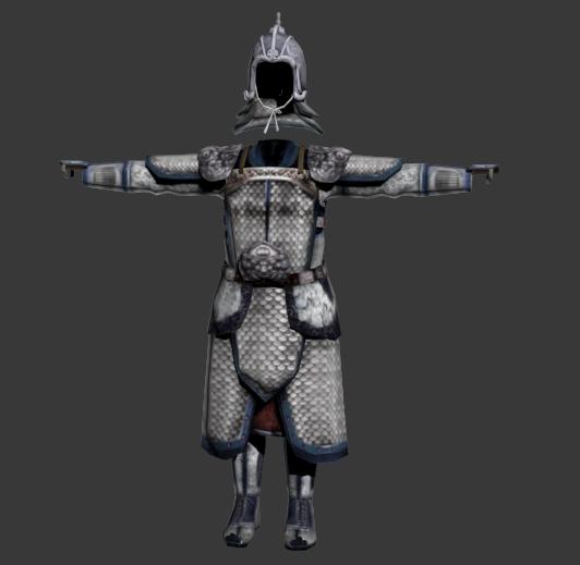 山文盔甲 3D打印模型渲染图
