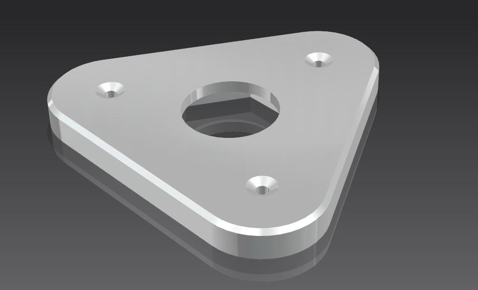 自制3d打印耗材架 3D打印模型渲染图