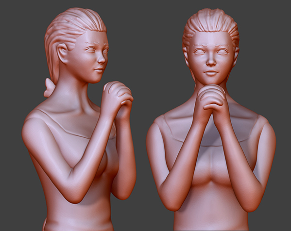 祈祷的少女——灯罩