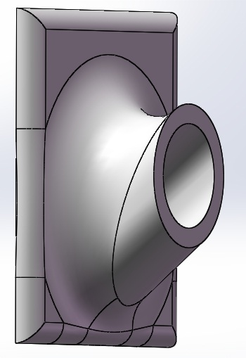 T尾支撑座 3D打印模型渲染图