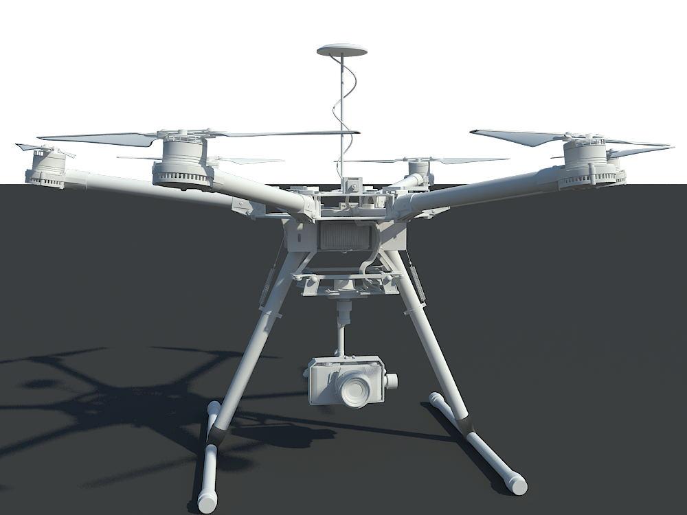 航拍机/无人机 3d模型