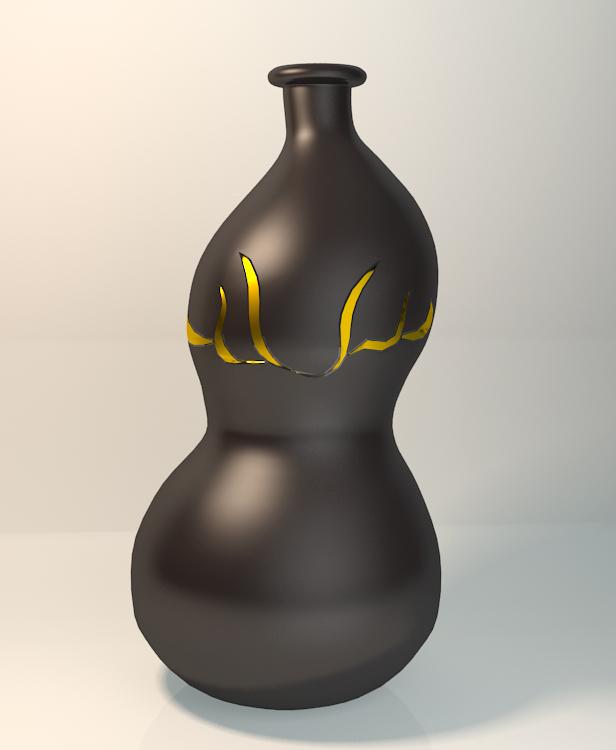 三维瓶子模型设计 原创