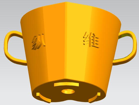 桃心浪漫花盆,盆栽 3D打印模型渲染图