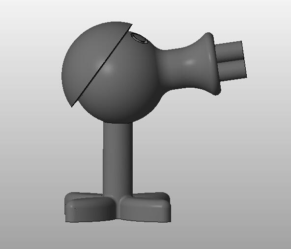 植物大战僵尸,豌豆射手游戏模型  3D打印模型渲染图