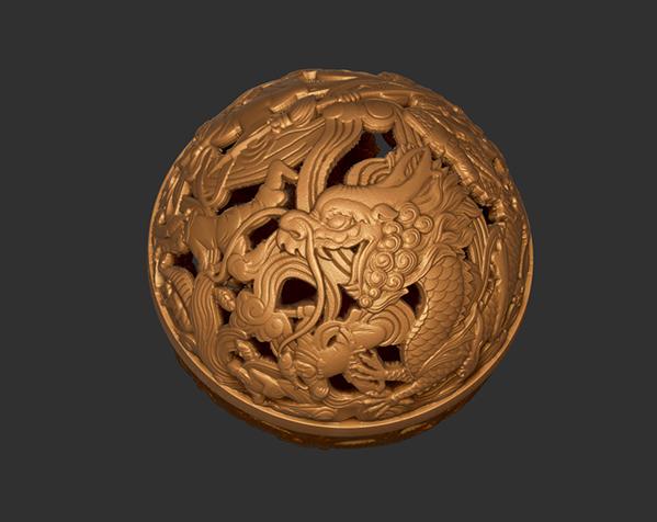 镂空浮雕球——桌面装饰