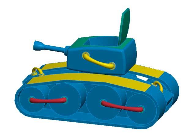 坦克模型-《舒克和贝塔》中的坦克