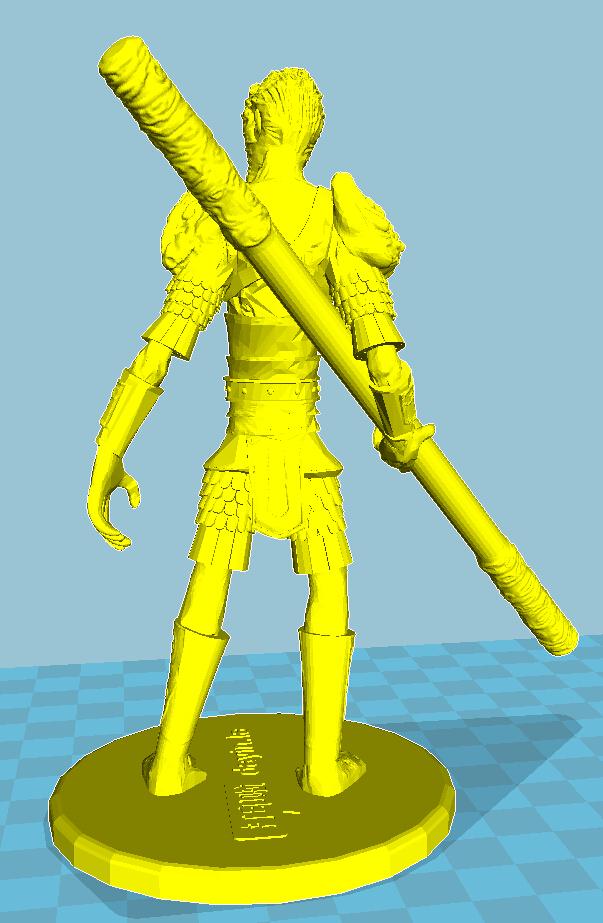 齐天大圣 3D打印模型渲染图