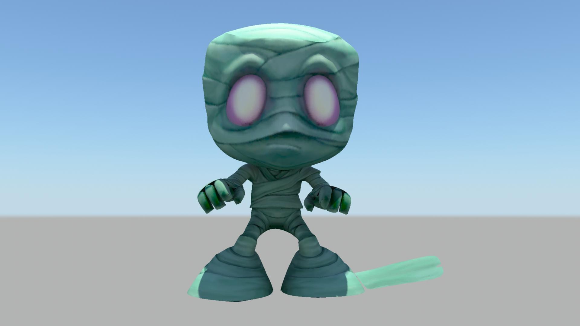 阿木木LOL 3D打印模型渲染图