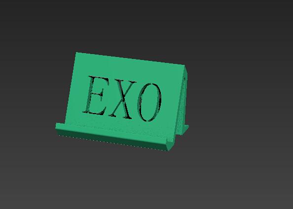 EXO手机座 3D打印模型渲染图