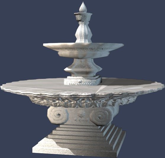 欧式 叠水 001 3D打印模型渲染图