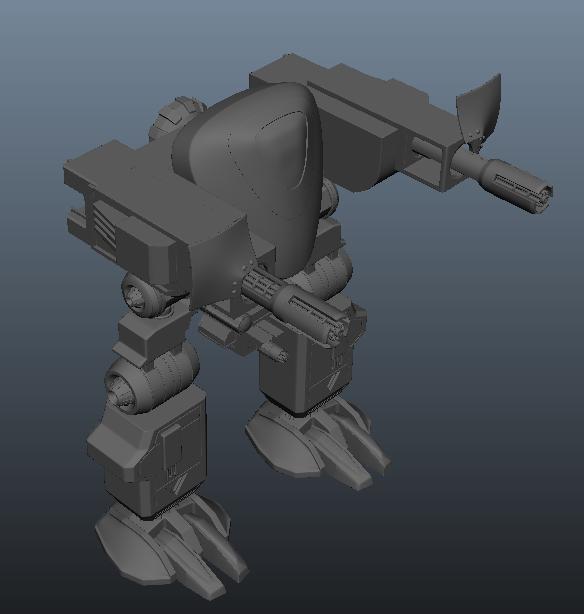 机甲 3D打印模型渲染图