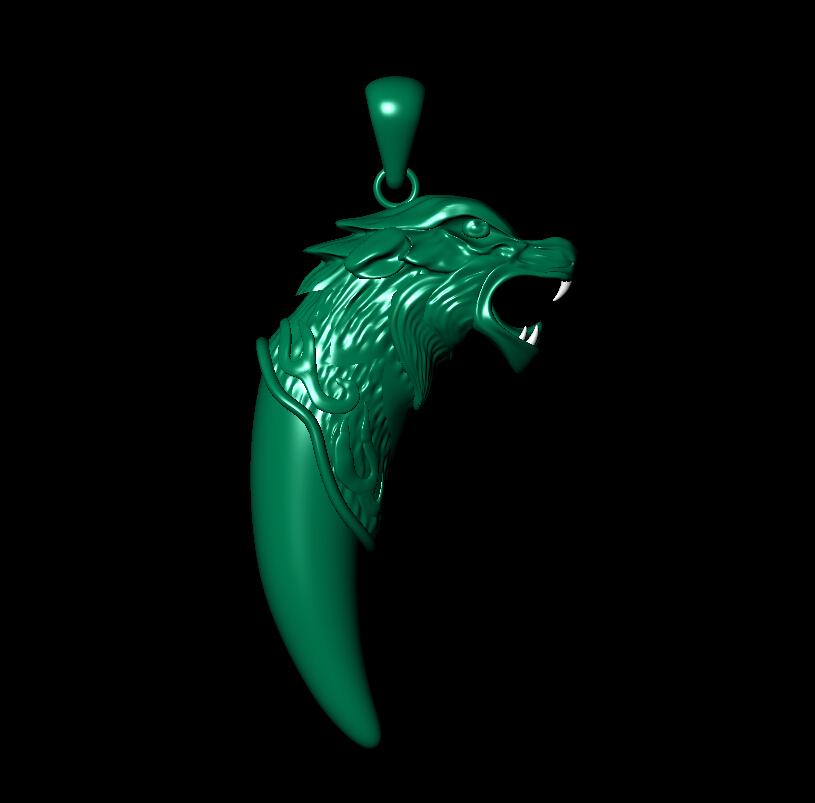 狼牙吊坠 3D打印模型渲染图