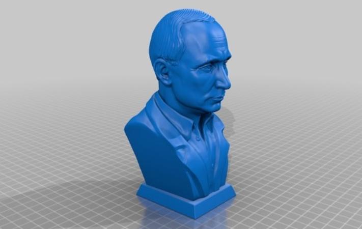 普京 3D打印模型渲染图