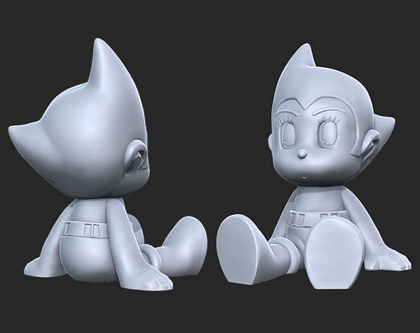 铁臂阿童木 3D打印模型渲染图