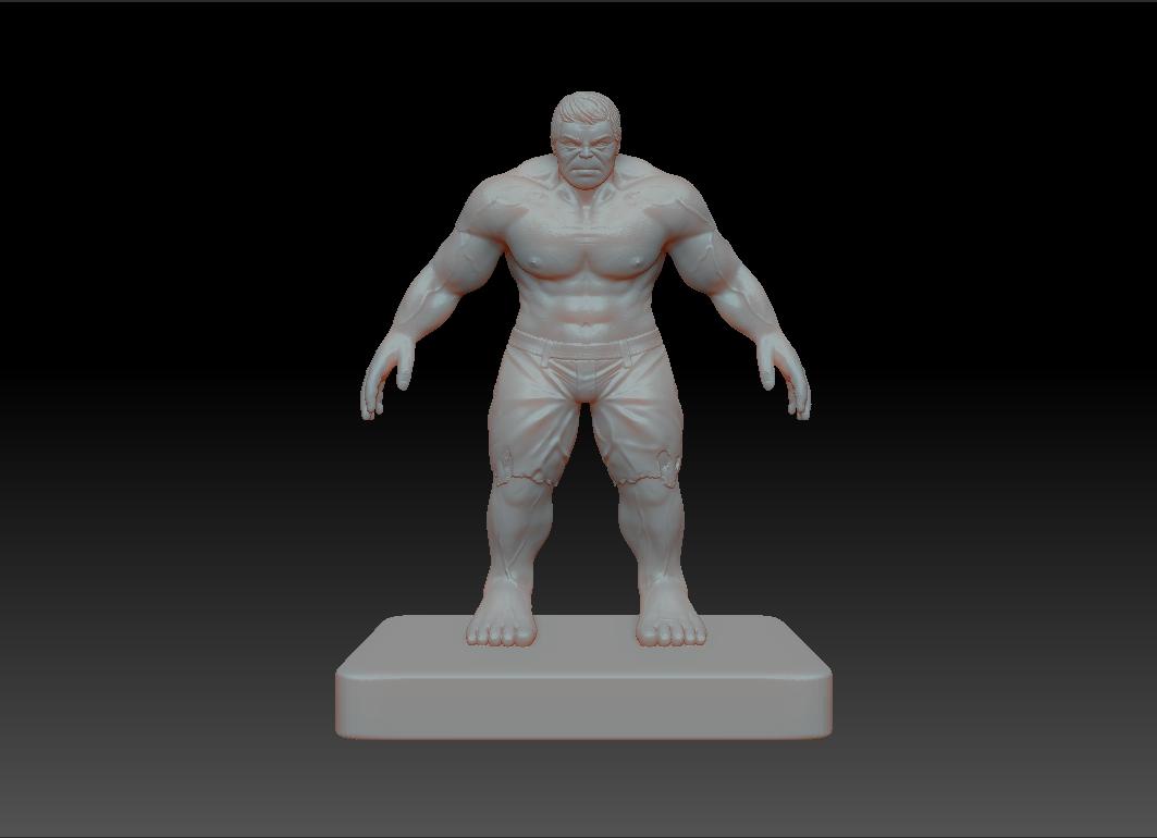 绿巨人Hulk 3D打印模型渲染图