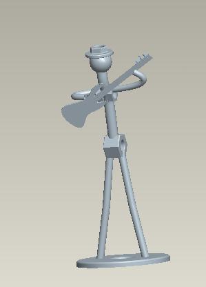 music 3D打印模型渲染图