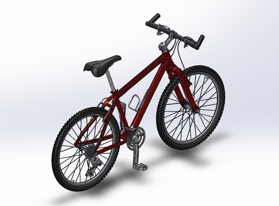 山地自行车 3D打印模型渲染图