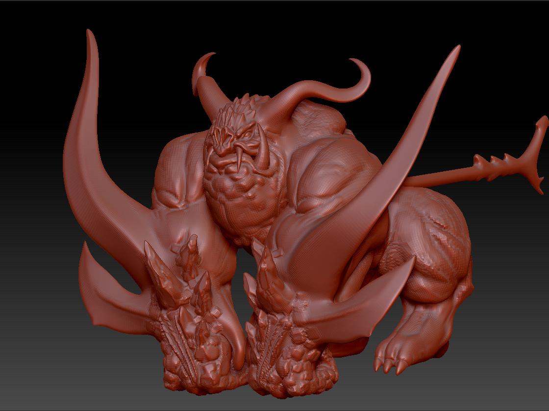 剑灵 炎煌 3D打印模型渲染图