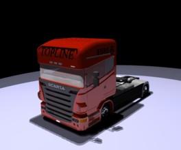 牵引车头 3D打印模型渲染图