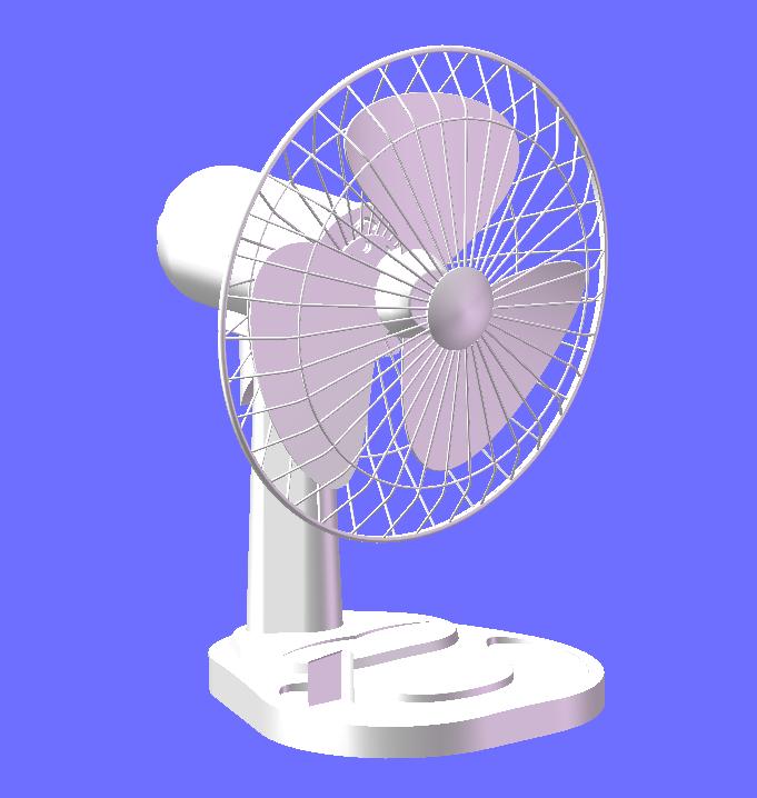 台式风扇 3D打印模型渲染图