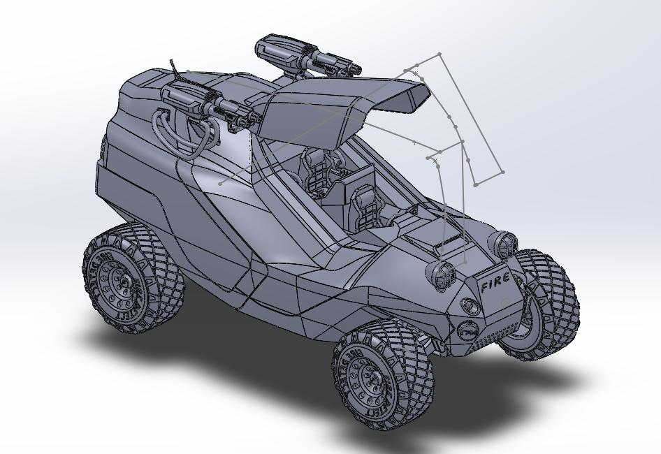 模型消防车 3D打印模型渲染图