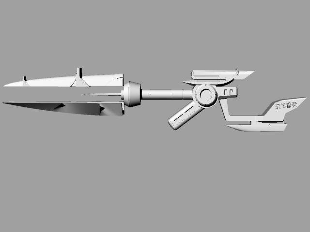 皮城女警武器 3D打印模型渲染图
