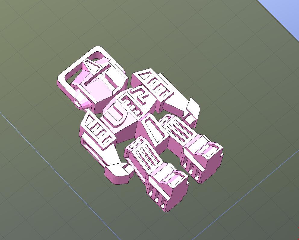 机器人钥匙扣-一次性打印,头和四肢可动
