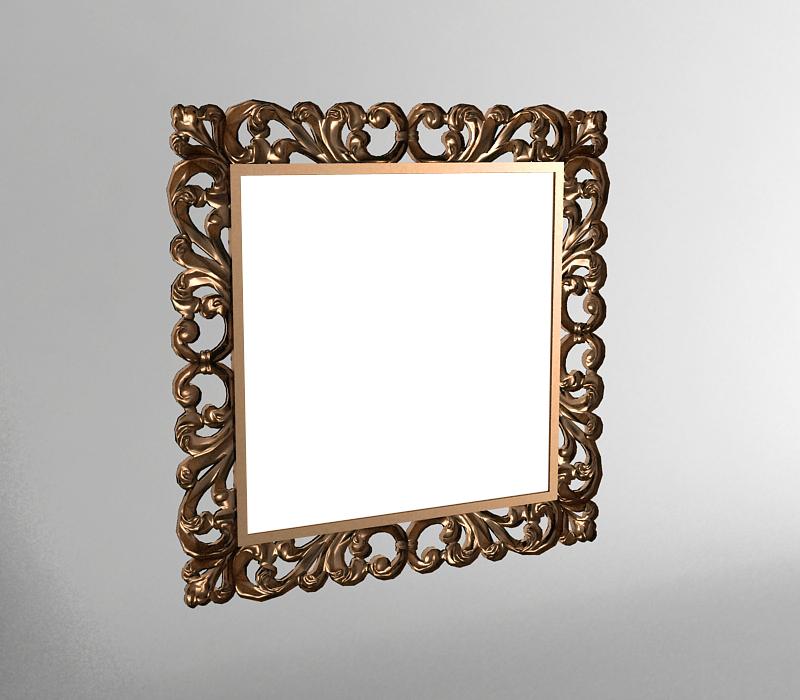 妆镜 3D打印模型渲染图