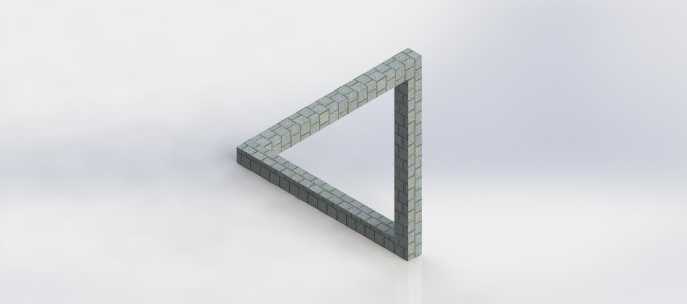 经典错觉系列 3D打印模型渲染图