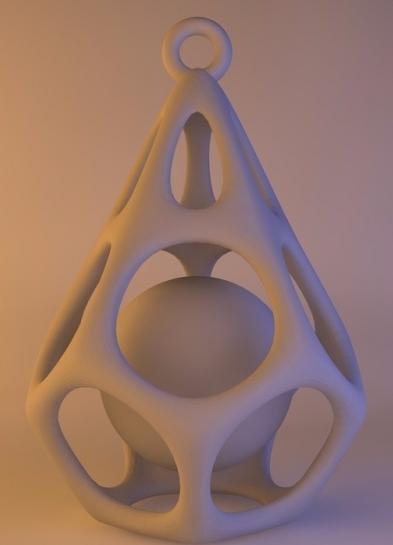 钻石球 3D打印模型渲染图