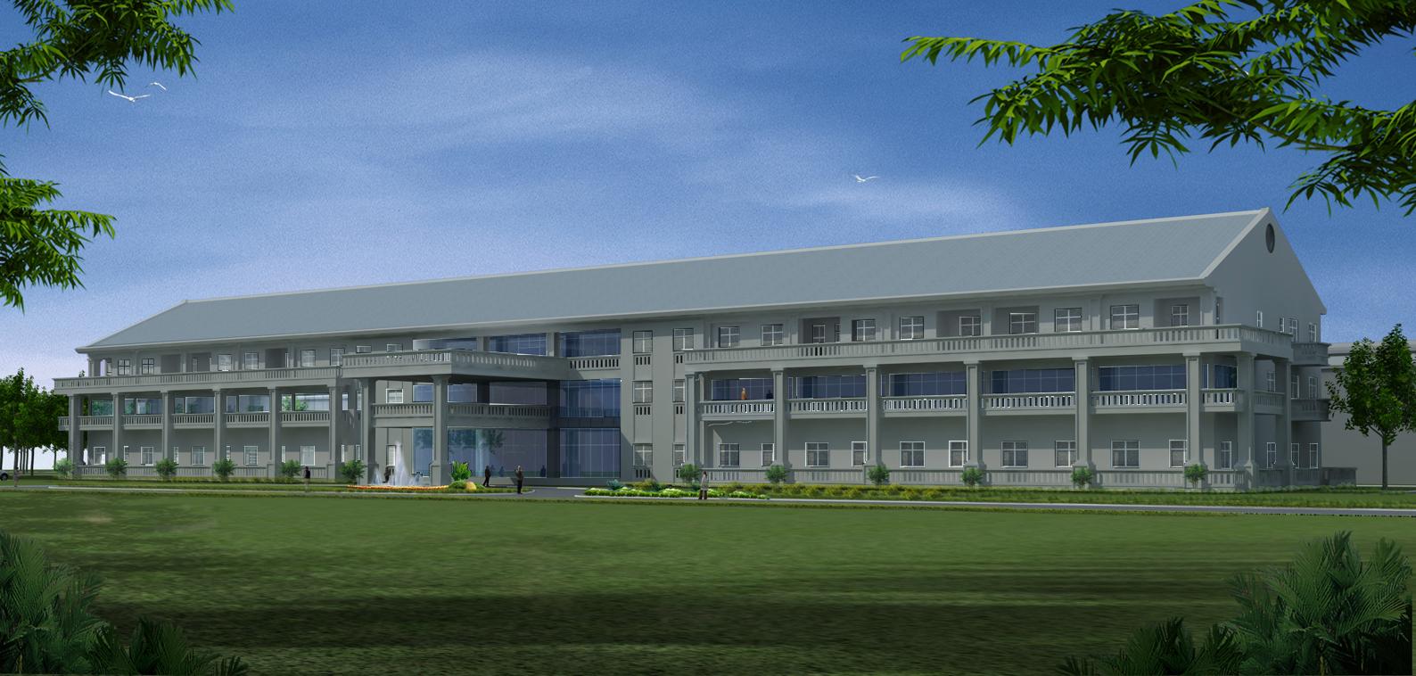 行政楼3D 模型 1:1
