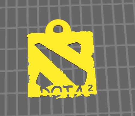 DOTA2 logo钥匙挂件
