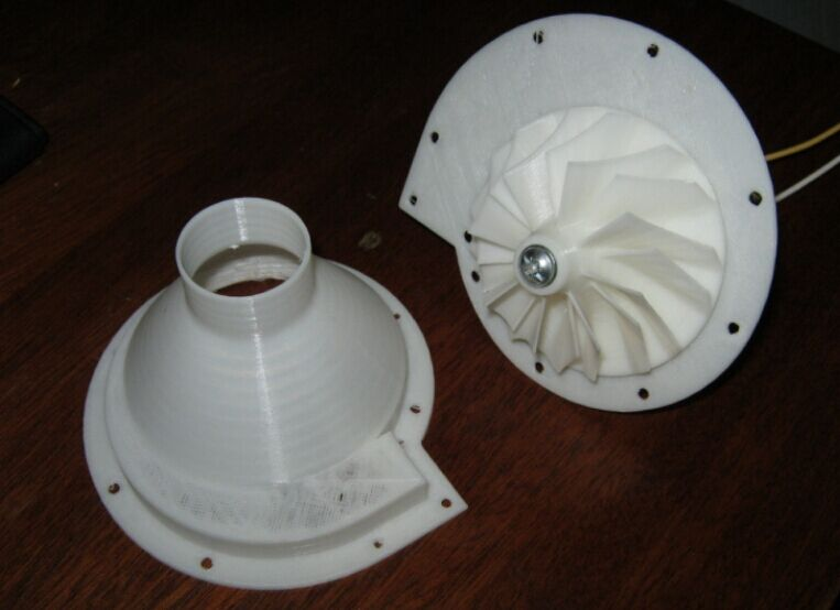 12V直流电动机涡轮 3D打印模型渲染图