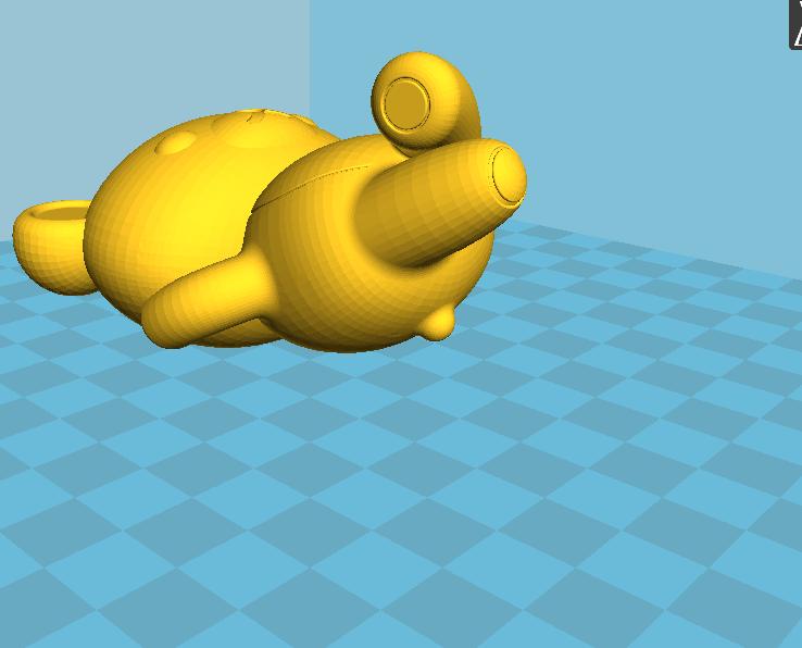 拉拉熊 3D打印模型渲染图