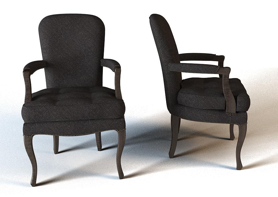 椅子 3D打印模型渲染图