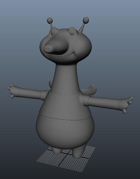 卡通人 3D打印模型渲染图