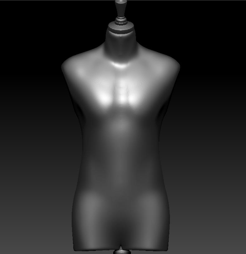 男人台 3D打印模型渲染图