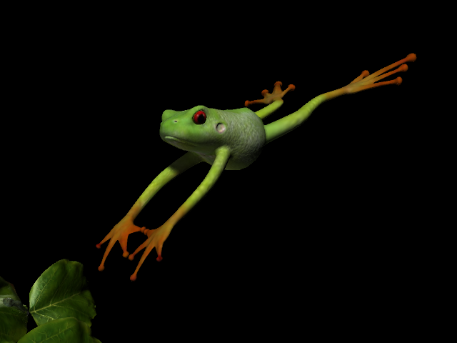 可爱的青蛙 3D打印模型渲染图