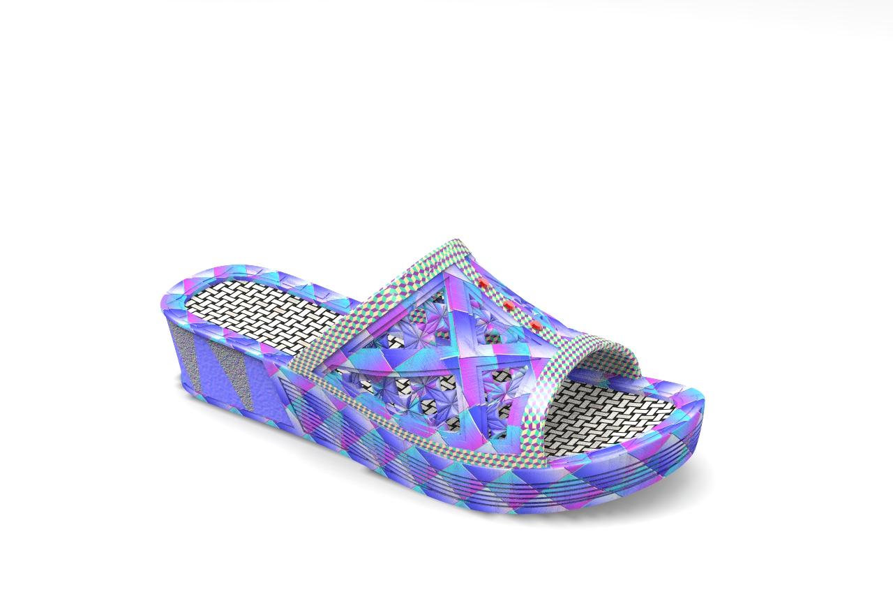 拖鞋效果图